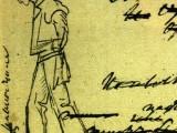 `Анчар`. Черновой автограф с изображением раба. 1828