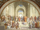 Афинская школа. Сикстинская капелла. Ватикан.