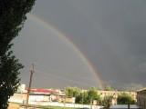 Двойная радуга над моим городом!