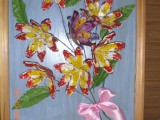 Цветы из ячеек от яиц
