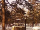 зимний фонтан в парке