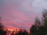 Яркие краски заката осеннего неба...