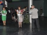 Награждение за победу в городском конкурсе `Педагог года`