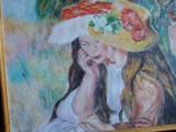 По Ренуару.Две девушки,читающие в саду