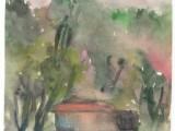 Пейзаж. Рисунок по мокрому