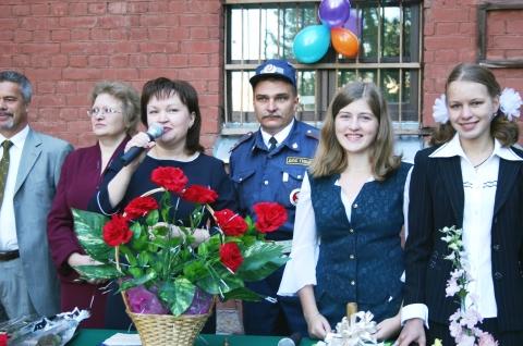 Линейка 1 сентября 2005 года. - Средняя общеобразовательная школа 337