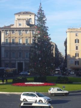 Елка на площади Венеции