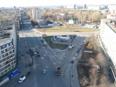 Вид на ул.ул. Бабушкина и Шелгунова. - Средняя общеобразовательная школа 337