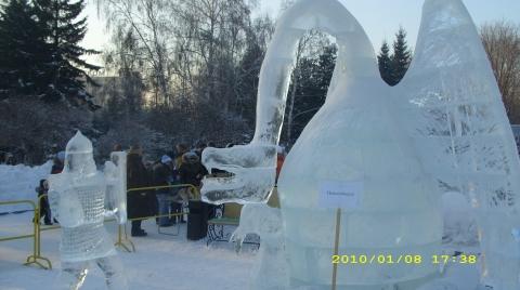 Конкурс ледяных фигур в Новосибирске. - Валентина Сергеевна Рябизова