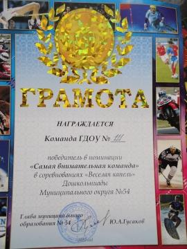 Наша грамота - ГБДОУ №111
