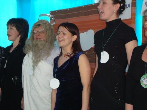 Я и Наталья Владимировна в центре - Муниципальное образовательное учреждение Северокоммунарская средняя общеобразовательная школа