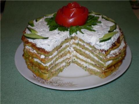 Творожно овощной тортик - Таисия Олеговна Кучина