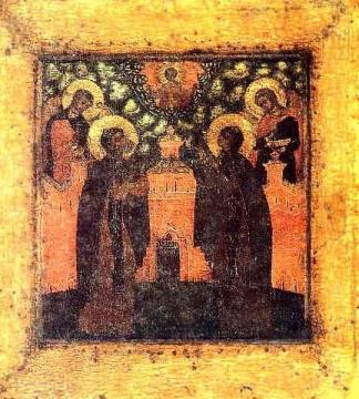 Петр и Феврония (икона) - Николай Михайлович Мокшин