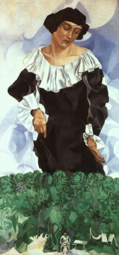 Белла в белом воротнике (портрет жены)
