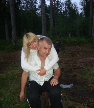 С мужем на пеньке в лесу.... - Ольга Ивановна Степанова