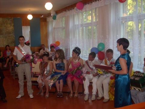 Вручение аттестатов - Муниципальное общеобразовательное учреждение ` Твердиловская основная общеобразовательная школа`