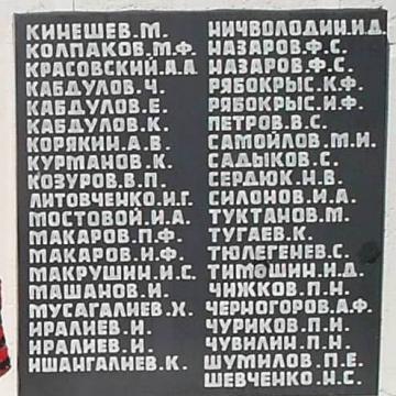 Надписи на памятнике