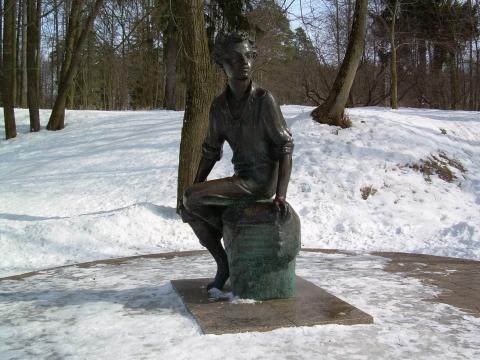 Памятник юному Пушкину в Захарове - Светлана Александровна Рамазанова