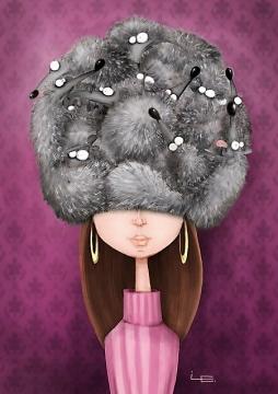 шапка из ежей -  Елена  Станиславовна  Работкина