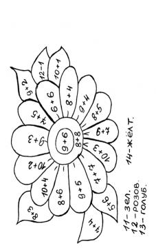 Математическая раскраска счет в пределах 10