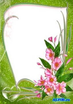 рамка цветы - Ольга Викторовна Баранова