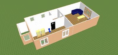 Пример модели 3D здания - Владимир Викторович Ятис