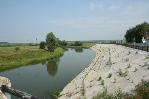 Вид с моста через р.Цивиль  - Цивильский педагогический техникум
