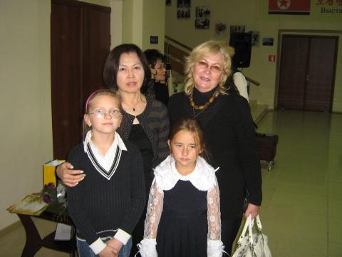 Открытие выставки японской художницы  Мячико Сосимо - Любовь Павловна Белякова