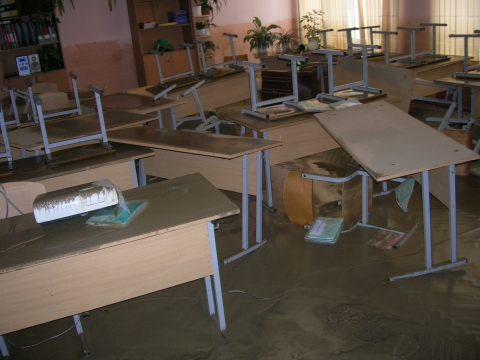 Мой кабинет после наводнения