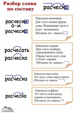 Памятка к проведению морфологического, фонетического и синтаксического разборов в начальных классах.