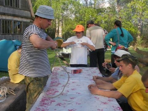 занятие по вязанию узлов - Муниципальное общеобразовательное учреждение Перовская средняя общеобразовательная школа