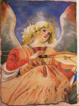 Ангел (копия фрески) 60*80 см. - Тамара Николаевна Панфёрова