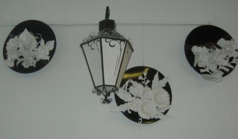 фонарь, панно на грампластинке - Тамара Николаевна Панфёрова