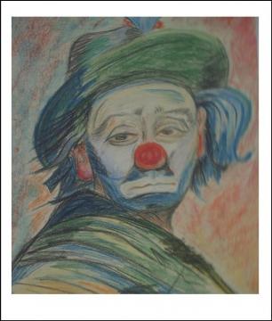 клоун (пастель) - Тамара Николаевна Панфёрова