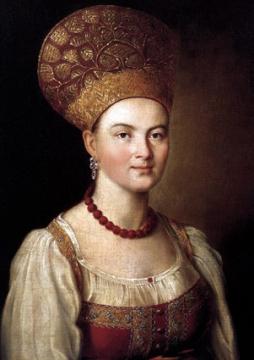 Портрет крестьянки в русском костюме, 1784 г. - Галина Викторовна Масленникова