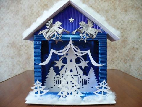 Рождественская поделка из бумаги своими руками