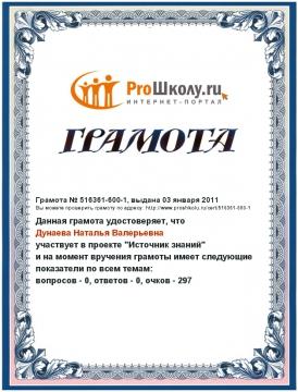 Грамота - Наталья Валерьевна Куприянова