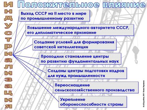 Индустриализация в СССР - Сообщество учителей истории