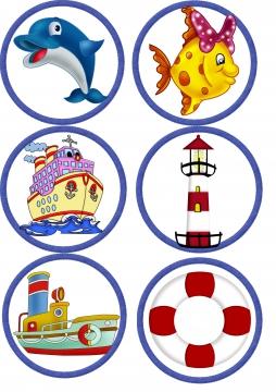 Картинки детские на шкафчики на морскую тематику