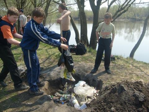 Экологическая акция `Чистый водоём` - МКОУ `ООШ № 9`
