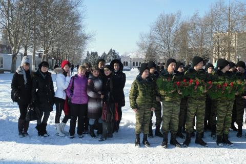 На митинге, посвященном воинам-афганцам - Ирина Александровна Гавриленко