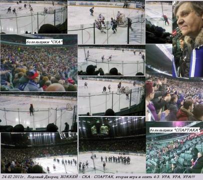 Хоккей `СКА` - `СПАРТАК` 24.02.2011. - ГБОУ СОШ № 346, Комплекс