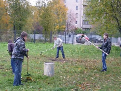 Осенний субботник 2010 - 2 - ГБОУ Школа № 268 Невского района Санкт-Петербурга