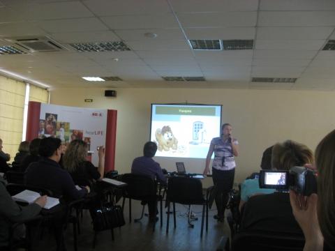 Зонтова О. В. показала специфику работы по данной программе - ГБДОУ детский сад №60