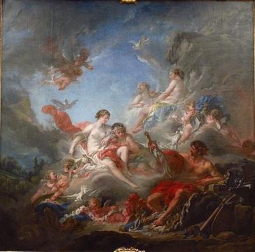 (Франсуа Буше. Вулкан вручает Венере доспехи Энея (1757))