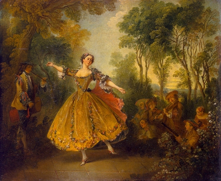(Никола Ланкре. Танцующая Камарго (1730))