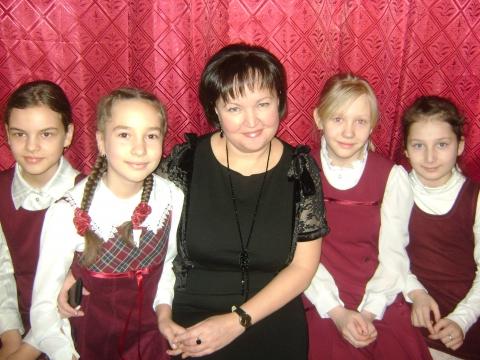 Ольга Викторовна с ученицами - Ольга Игоревна Баранцева