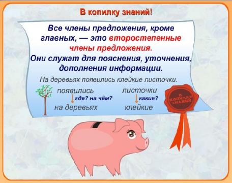 Второстепенные члены предложения. - Лариса Юрьевна Мосина.