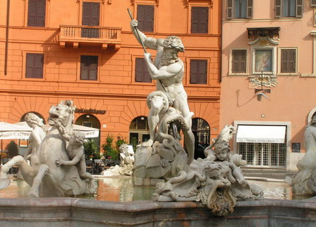 фрагмент фонтана четырёх рек