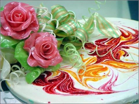 Украшение на торт своими руками из карамели